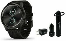 Garmin Vivomove 3 Style Black Slate Hybrid Smartwatch and Wearable4U Power Pack