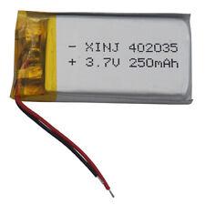 3.7V 250 mAh 402035 Li-Polymer Li ion battery for Mp3 MID Sat nav MP4 DIY GPS