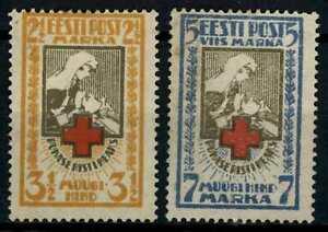 Estonia 1921-1922 SG#31B-32B Red Cross P13.5x14 Unused No Gum Set #E78863