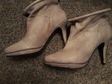 DIESEL designer ladies grey super soft leather ankle boots UK 5/38.