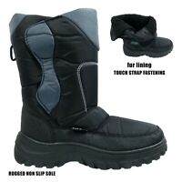 MENS SNOW BOOTS WINTER THERMAL WARM FUR THERMAL SKI RUGGED SOLE SHOWERPROOF BOOT