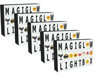 A4 CINEMATIC LIGHT UP LETTER BOX  LED SIGN PARTY WEDDING - SET OF 5