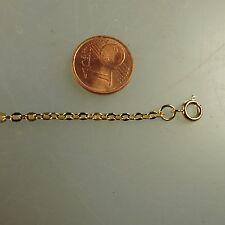 Feine stabile Flachanker Kette Gold Double 2,4 mm 40 cm (41385)