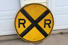 """Vintage 36"""" Steel Embossed Railroad Crossing Sign -- Exceptional Condition"""