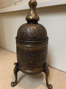 Beautiful Islamic Antique mamluk revival metalwork insert burner