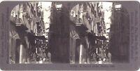 Italia Napoli Rue Animata Scenic Foto Stereo Vintage Analogica c1910