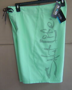 NWT$45 SALT LIFE 36 STEALTH BOMBERZ SLX-QD Swim Boardshort CUCUMBER GREEN MTF004