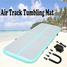 10Ft Inflatable Air Track Gymnastics Yoga Tumbling Floor Mat Gym w/ Pump Green