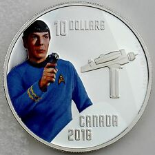 Canada 2016 $10 Star Trek: Spock, 1/2 oz. 99.99% Pure Silver Color Proof Coin