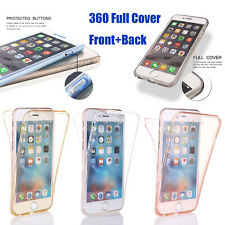for iPhone XS Max/XR X 8 7 6 5s 360 Full Body Shockproof Silicone Gel Case Cover