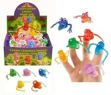 FINGER FRIGHT Puppets Monster Rubber Toy Birthday Party Loot Bag Filler Stocking