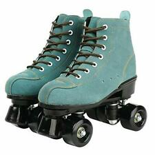 New listing XUDREZ Cowhide Roller Skates for Women and Men High-Top Shoes Double-Row Desi...
