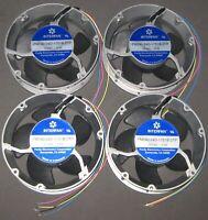 4 X Industrial 172 mm Round Fan - 24 VDC - Aluminum Case - 250 CFM 5 Blade Imp