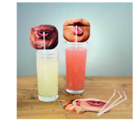 FUNNY FACE STRAWS PARTY DRINK TABLE DECORATION CLEAR DRINKING STRAW PHOTO FACES