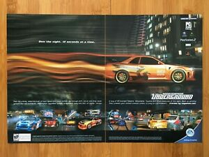 Need for Speed: Underground PS2 Xbox GC 2003 Print Ad/Poster Official Racing Art