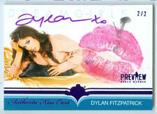 "DYLAN FITZPATRICK ""KISS AUTOGRAPH CARD #2/2"" BENCHWARMER DREAMGIRLS PREVIEW 2016"