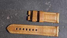 WWII Leather Strap for Panerai - White Stitches (Watch & Buckle NOT included)