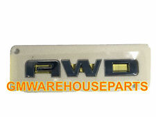 "2011-2017 GMC TERRAIN CHROME ""AWD"" TAILGATE LIFTGATE EMBLEM NEW GM # 23255005"