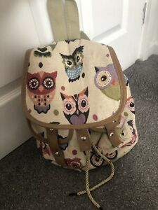 Owl Canvas Back Pack