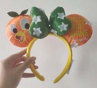 Disney Parks hello sun shine Mickey Minnie Mouse orange Ears Headband new