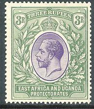 British East Africa 1921 violet/green 3r multi-script mint SG73