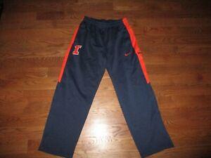 Men's Illinois Fighting Illini Nike Elite Therma Fit Fleece Basketball Pants LG