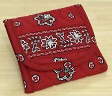 Vera Bradley Pocket Wallet in Red Bandana