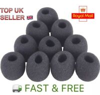 10Pcs Microphone Headset Windshield Sponge Foam Black Mic Cover 30*8mm UK