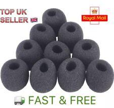 10pcs Microphone Headset Grill Windshield Sponge Foam Black Mic Cover 30*8mm UK