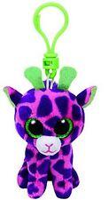 Gilbert Giraffe - Ty Beanie Keyring Key Clip - Plush Boo Babies Toy Teddy