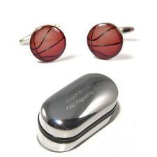 Basketball Player, Basket Ball Cufflinks & Engraved Gift Box