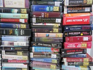 60+ Fiction AudioBooks on CD - Follett Evanovich Ludlum Etc BUY MORE SAVE MORE