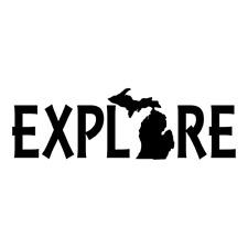 Michigan Explore  logo Decal Car Window Sticker Vinyl Pick The Size Color