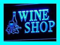 i091-b OPEN Wine Shop Bar Pub Club Neon Light Sign