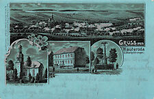 Routenplaner Oberheldrungen Schule, Kirche, Kriegerdenkmal bei Nacht Postkarte