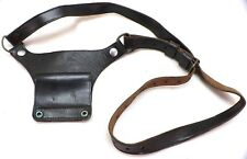 Us Black leather 45 holster adapter and cross strap used each E750