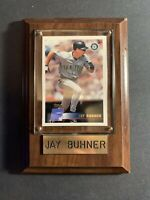 2000 Topps Seattle Mariners Baseball Card #6 Jay Buhner Wood Plaque