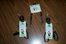Sheppard & Greene Ferret - 2 Harness / Lead Sets+Tandem Coupler - Black