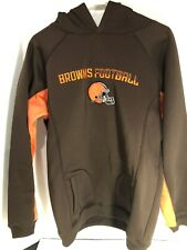 NFL Team Apparel CLEVELAND BROWNS Hoodie Sweatshirt Youth X-Large 18/20 EUC
