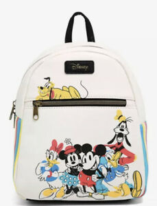 Loungefly Disney The Sensational Six Mini Backpack Bag Mickey Mouse & Friends
