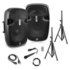 Pyle PPHP1249KT Active PA 2-Channel Surround Sound Speaker System  Black 1800W