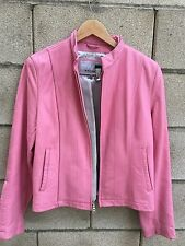 Wilson's Leather Maxima Pink Moto Jacket Zip Up Womens Large