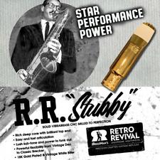 "RETRO-REVIVAL ""STUBBY"" REPLICA 1945 DUKOFF SHORT TENOR SAX MOUTHPIECE 8 NEW"