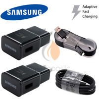 Samsung Galaxy S7 S8 S9 Note 8 5 4 Fast Charging Dual USB Car&Wall Charger+Cable