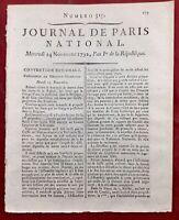 Procès de Louis 16 1792 Saint Just Fauchet Morisson Révolution Française Paris