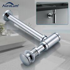 Waschbecken Ablaufgarnitur Sifon Siphon Pop Up Ablaufventil Abfluss mit Überlauf