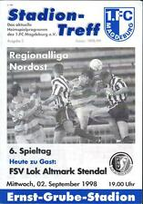 RL 1998/99 1. FC Magdeburg - FSV Lok Altmark Stendal, 02.09.1998