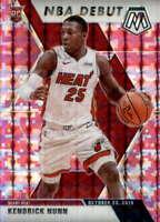 2019-20 Panini Mosaic Pink Camo #268 KENDRICK NUNN RC NFL Debut Miami Heat