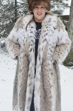 Beautiful Condition Montana Lynx Fur Coat *Size Med / Large / X-Large