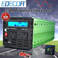 EDECOA Pure Sine Wave 2500W 5000W 12V 240V Power Inverter Camping Boat Caravan